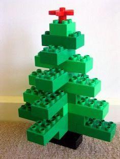 árvore de natal feita de lego