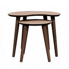Skandi Walnut Nest of Lamp Tables | Dunelm