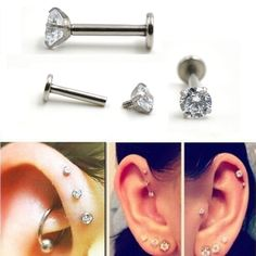 Aliexpress.com : Buy Wholesales 20pcs/lot Round Gem Labret Monroe Lip Stud Ear Piercing Cartiliage Tragus Helix Earring Nose Stud 16g Lip Ring  from Reliable earring screen suppliers on SERYNOW JEWELRY