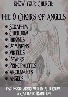 Roman Catholic - The 9 Choirs of Angels Catholic Religion, Catholic Quotes, Catholic Prayers, Catholic Saints, Roman Catholic, Catholic Archangels, Catholic Traditions, Catholic Churches, Catholic Kids