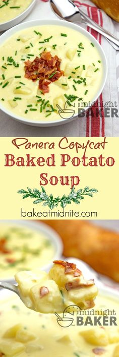 If you love Panera's baked potato soup, you'll love this copycat recipe! (Panera Sandwich Recipes)