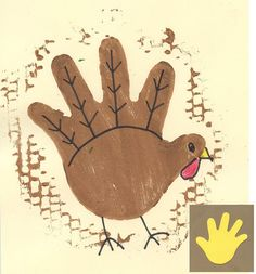 Art Projects for Kids: Turkey Monoprint