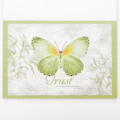 Placemat Set Paper set/20 Butterfly Blessings   Christian Art Gifts