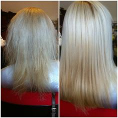Before & After Brazilian Hair Keratin