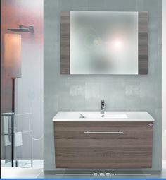 έπιπλο μπάνιου κρεμαστό με βάση αποτελούμενη από συρτάρι