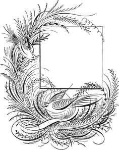 Free Flower Line Drawings Calligraphy Flowers, Calligraphy Drawing, Copperplate Calligraphy, Beautiful Calligraphy, Penmanship, Flower Line Drawings, Bird Clipart, Fancy Pants, Book Of Shadows