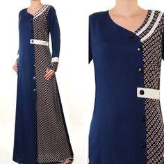 2641 Fashion Casual Shirt Dress Ladies Islamic Abaya