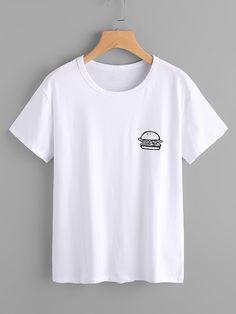 Shop Hamburger Print Tshirt   online. SheIn offers Hamburger Print Tshirt   & more to fit your fashionable needs.