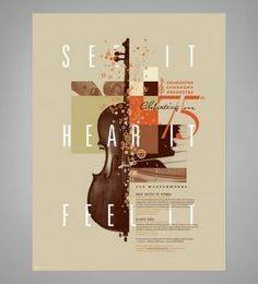 great poster design for Charleston Symphony Orchestra Poster Design, Graphic Design Posters, Graphic Design Typography, Graphic Design Illustration, Graphic Design Inspiration, Poster Layout, Poster Ideas, Creative Inspiration, Print Design