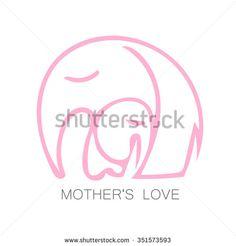 Elephant Mother Stock Vectors & Vector Clip Art | Shutterstock