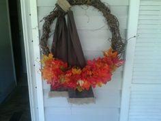 My fall wreath.