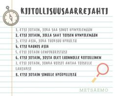 KIITOLLISUUSAARREJAHTI - Metsäemo Special Needs Teaching, Kids Schedule, Early Childhood Education, Working With Children, Self Development, Self Esteem, Special Education, Kids And Parenting, Inspirational Quotes