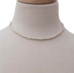 Simple silver effect beaded necklace £14.95