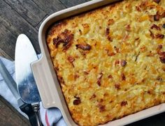 Brunch Recipe: Bacon, Potato & Egg Breakfast Casserole — Recipes from The Kitchn.Great for making ahead and just popping it in the oven the next day. I mean you're in the damn kitchen cooking anyway, right? Potato And Egg Breakfast, Breakfast Potato Casserole, Paleo Breakfast, Breakfast Time, Breakfast Recipes, Brunch Casserole, Brunch Recipes, Meat Recipes, Cooking Recipes