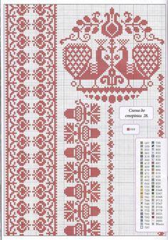 i like the acorn border pattern Cross Stitch Bird, Cross Stitch Flowers, Cross Stitching, Cross Stitch Embroidery, Embroidery Patterns, Cross Stitch Sampler Patterns, Cross Stitch Borders, Cross Stitch Samplers, Cross Stitch Designs