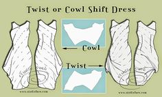 well-suited: PatternPuzzle - Twist or Cowl Shift Dress