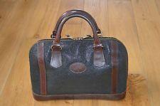 e1f59023e6d2 Vintage Mulberry Leather Branston Scotchgrain Black Womens Bowling Handbag  Bag Mulberry Alexa