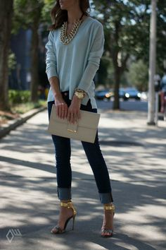Gold Rush- Would love this with flat shoes.