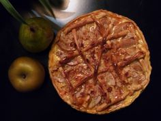 J15 --> Tarte pomme-poire et chocolat pour bien commencer la semaine en ce J-10 avant Noël #Avent2014 #Noel