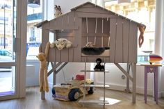 A treehouse inside the house?? I'd even have it for myself! ^^ | The Lit Cabane by Anders Paris - Meubles et chambres d'enfant, Vente de mobilier pour enfants