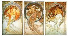 alphonse muchas paintings woman | Art Nouveau Mucha