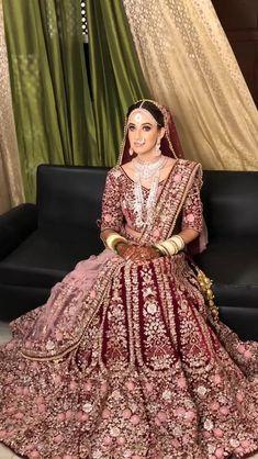 Wedding Lehenga Designs, Designer Bridal Lehenga, Indian Bridal Lehenga, Pakistani Bridal Dresses, Latest Bridal Lehenga Designs, Sabyasachi Lehenga Bridal, Pink Bridal Lehenga, Pakistani Bridal Couture, Lehenga Saree Design