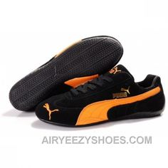 68e686a96514 Puma Speed Cat SD Mens In Black Orange Shoes Online XeCCedF