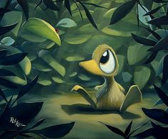 cartoon-duck-painting-rob-kaz