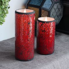 Simplux Moving Wick Hot Red Flameless LED Mosaic Wax Candle with Remote Control   eBay
