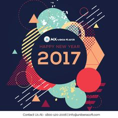 """""""Happy New Year 2017"""" .............................. #HappyNewYear2017 #NewYear #NewYear2017 #MxVideoPlayer #Bestmusicplayer2017 #Bestvideoplayer2017"""