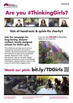 #ThinkingGirls Poster in English
