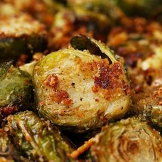 Roasted Garlic Parmesan Brussels Sprouts