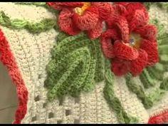Programa Arte Brasil Tapete Laço Flores em Crochê Maria Jose 08.01.2015