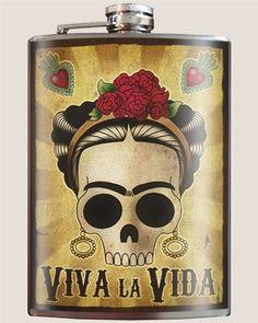 Viva la Vida Frida Flask