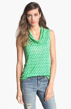 Olivia Moon Cowl Neck Sleeveless Top available at #Nordstrom