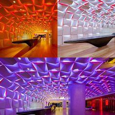 El Salon Urbain ubicado en el complejo Place des Arts (Canadá). #Iluminacion #LED