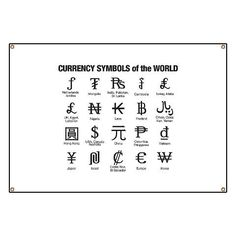 Money Names Of The World Currency Symbols Banner Symbol Occult