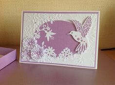 Made by Yvonne Cooper #tatteredlace #hummingbird #cardmaking