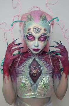 SFX Extraterrestrial Themed Transformation Using $3 Drugstore Makeups