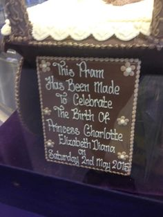 """My Royal Obsession on Twitter: """"Spotted today at Cadbury World:A pram made from chocolate to commemorate the birth of HRH Charlotte Elizabeth Diana!"""