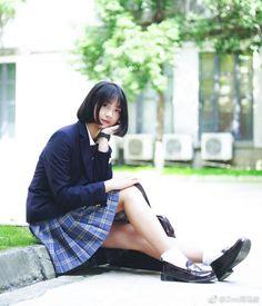 School Uniform Fashion, School Girl Outfit, School Uniform Girls, Girls Uniforms, School Uniforms, Beautiful Red Hair, Schoolgirl Style, Uzzlang Girl, Japan Girl