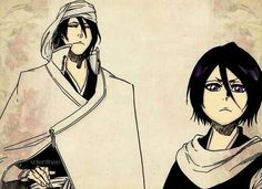 Bleach- rukia and byakuya  (Brother and Sister come together to face their enemy before them )