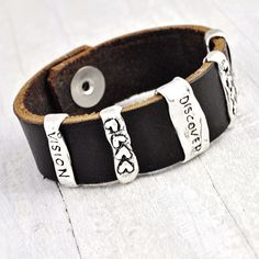 Discover Strength Vision Bracelet | Inspirational Leather Bracelet | Island Cowgirl Jewelry