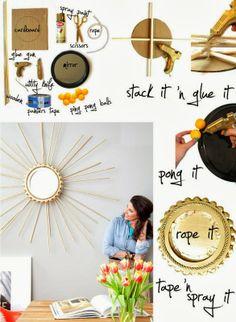 My DIY Projects: DIY Make a Beautiful Sunburst Mirror