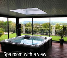 Plan your privacy. Build the perfect double aspect spa room with view. Incorporate a skylight in the roof for natural light and gazing at the stars at night.