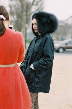 Hanneli + Canadian model Janice Alida after the Dior show. Paris, March 2013.