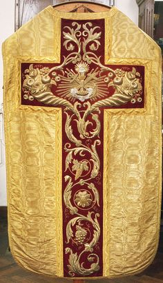 0003  Chasuble, back  Dutch  Produced by F. Stoltzenberg, Roermond  Date: 1852