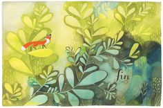 Illustration by Isabelle Arsenault – from 'Jane, le renard & moi / Jane, the fox & me' (written by Fanny Britt)
