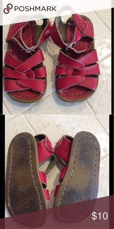 Salt Water leather red sandals Salt Water leather red sandals. Well loved, but lots of life left in them. Size 6 Shoes Sandals & Flip Flops
