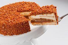 Torta Crocante de Doce de Leite e Castanha